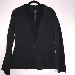 Lucky Brand | Black Cotton Blazer Jacket
